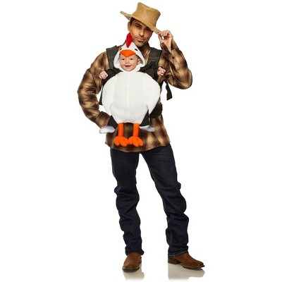 Seeing Red Chicken & Farmer Adult & Infant Carrier Costume   One Size