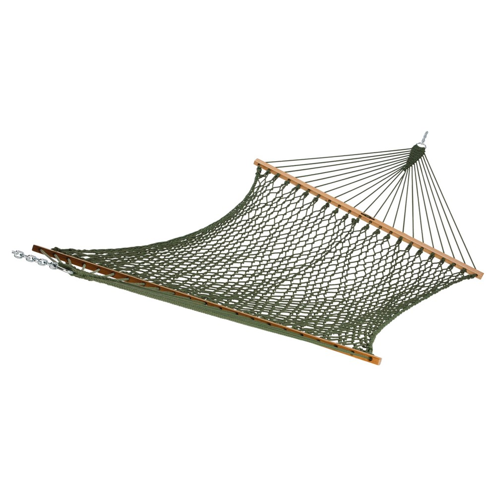 Image of Original Pawleys Island Large DuraCord Rope Hammock - Green