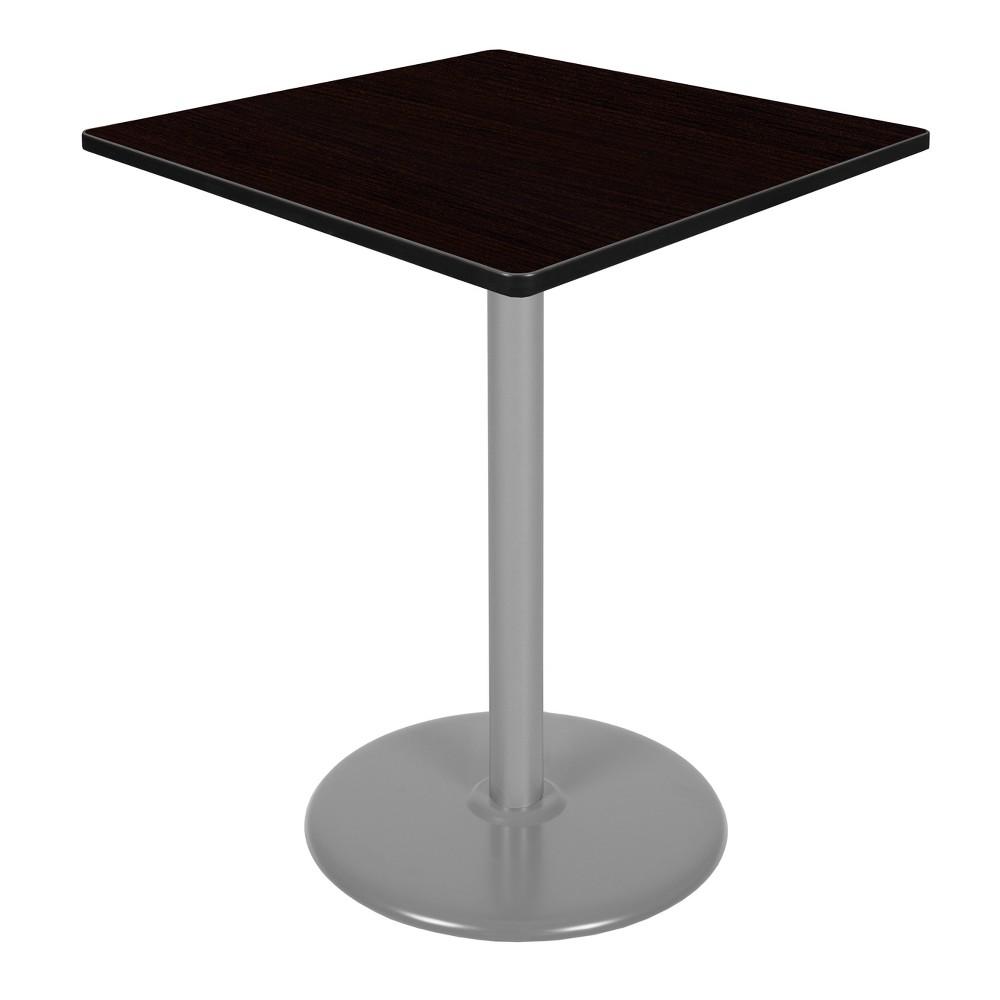 36 Via Cafe High Square Platter Base Table Espresso/Gray (Brown/Gray) - Regency