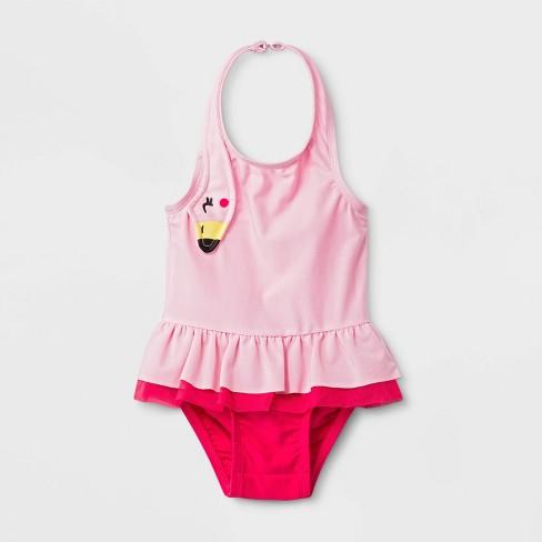 938afa8b575307 Baby Girls' Flamingo One Piece Swimsuit - Cat & Jack™ Pink 9M : Target