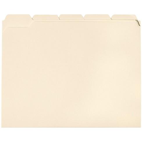 School Smart 1/5 Cut Manila File Folder, Letter, 11-3/4 L x 9-1/2 W in, 3/4 in Expansion, Mediumweight, pk of 100 - image 1 of 2