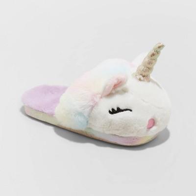 Girls' Totsie Unicorn Slide Slippers - Cat & Jack™ White