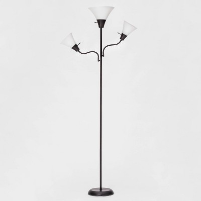 Torchiere with Two Task Lights Floor Lamp - Room Essentials™