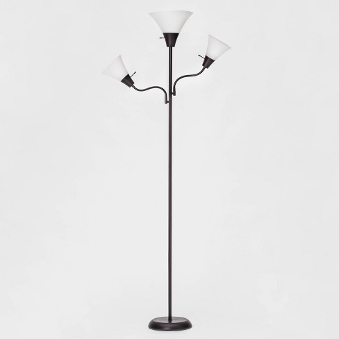 Torchiere with Two Task Lights Floor Lamp (Lamp Only) - Room Essentials™ - image 1 of 3