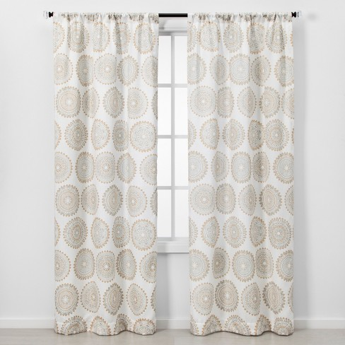 2pc Florence Light Filtering Window Curtain Panels - Threshold™ - image 1 of 5