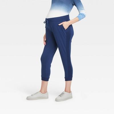 Rib-Knit Cropped Match Back Maternity Jogger Pants - Isabel Maternity by Ingrid & Isabel™