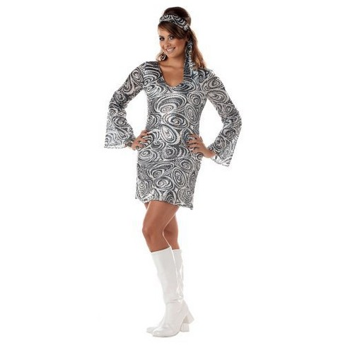 Women's Disco Diva Costume Large Plus - image 1 of 1