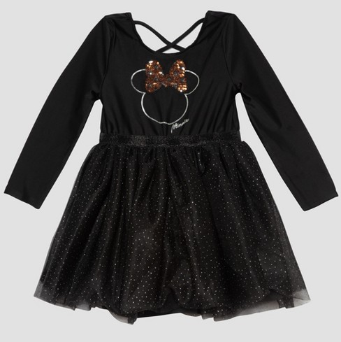 Toddler Girls' Mickey Mouse & Friends Minnie Mouse Tutu Dress - Black - image 1 of 2