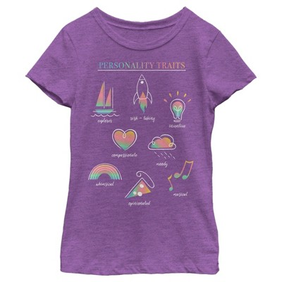 Girl's Soul Personality Book T-Shirt