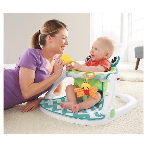 001a5c75eff6 Fisher-Price Sit-Me-Up Floor Seat - Citrus Frog   Target