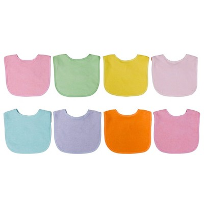 Neat Solutions 8pk Solid Bib Set