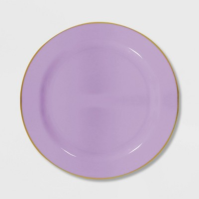 "8ct 7.5"" Non-Scalloped Reusable Snack Plates Purple - Spritz™"