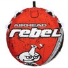Airhead Rebel 54 Inch 1 Person Durable Red Towable Tube Kit w/ Rope and 12V Pump - image 3 of 4