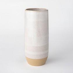 "11.1"" Ceramic Textured Vase White - Threshold™ designed with Studio McGee"