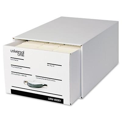 Universal Heavy-Duty Storage Box Drawer Legal 17 1/4 x 25 1/2 x 11 White 6/Carton 85301