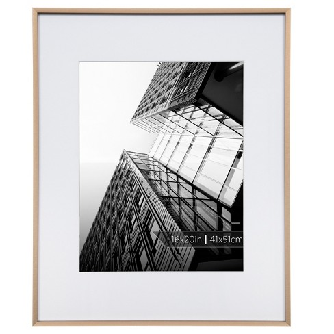 Burnes Of Boston 11 X 14 Aluminum Gallery In Brushed Finish Matted