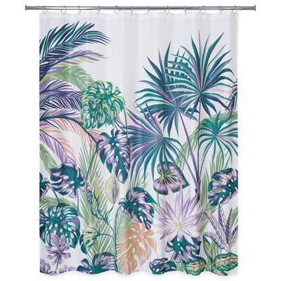 Oversize Palm Shower Curtain - Allure Home Creation