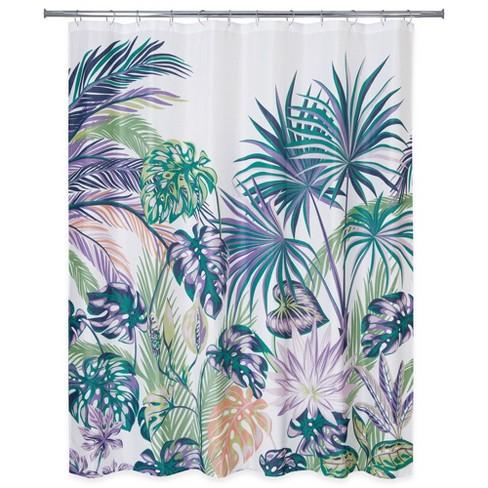 Oversize Palm Shower Curtain Allure
