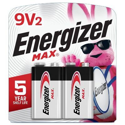 Energizer 2pk MAX Alkaline 9V Batteries
