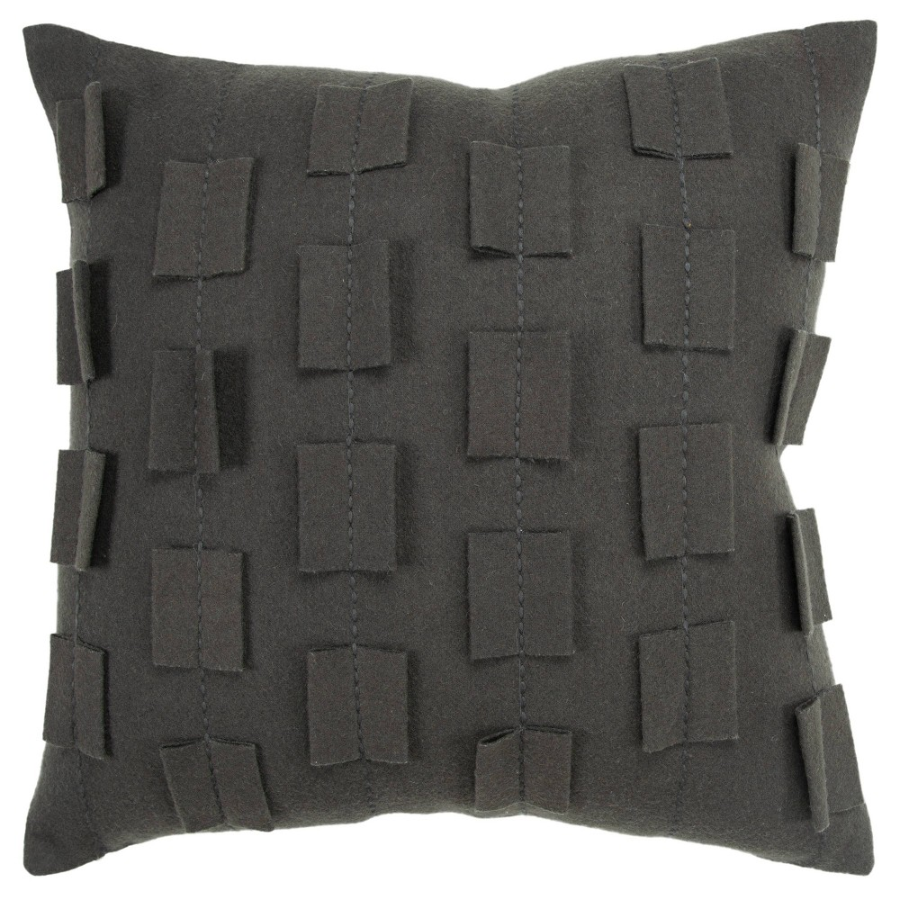 20 34 X20 34 Stripe That Shows As A Solid Pillow Cover Charcoal Donny Osmond By Rizzy Home