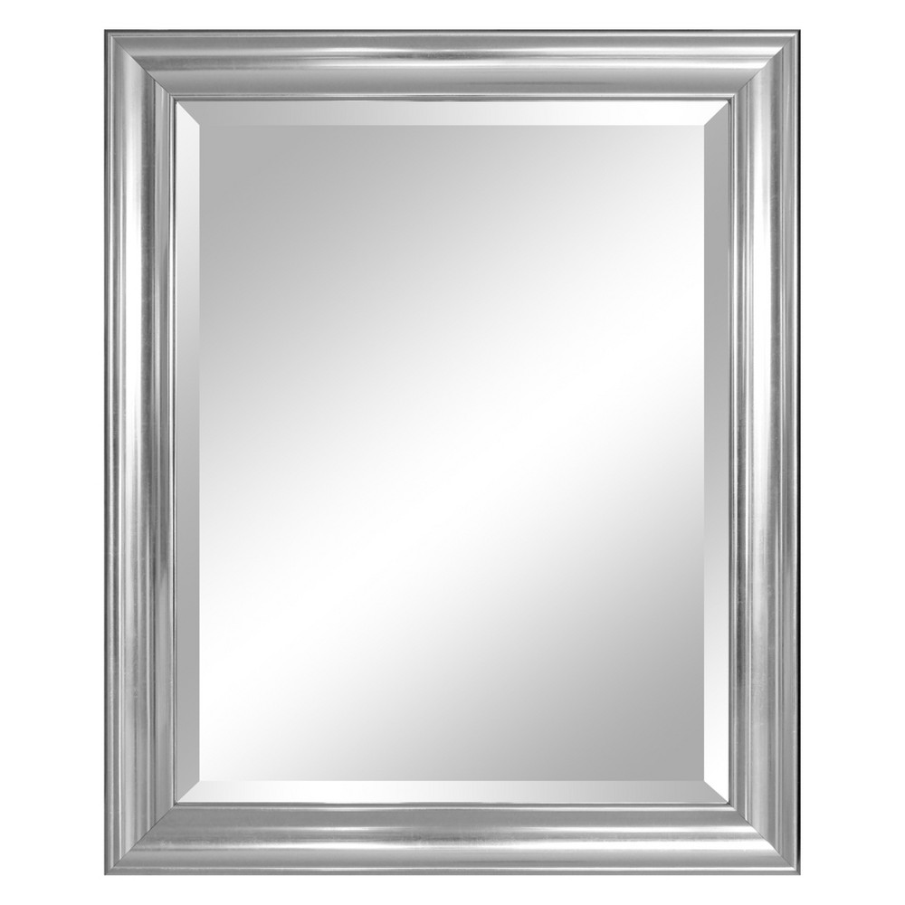 "Image of ""26.5"""" X 41.5"""" Concept Silver Framed Beveled Decorative Wall Mirror - Alpine Art and Mirror"""