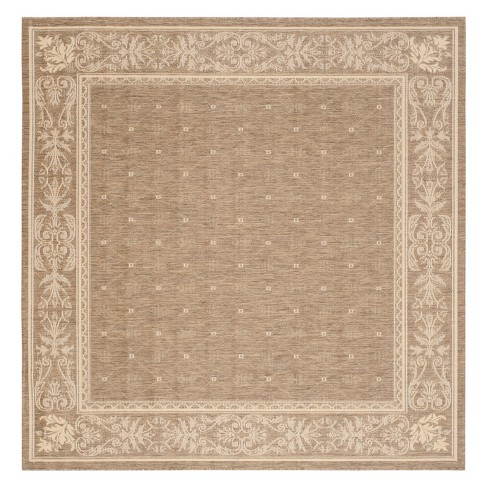 Courtyard Patio Rug Brown / Natural - Safavieh® - image 1 of 2