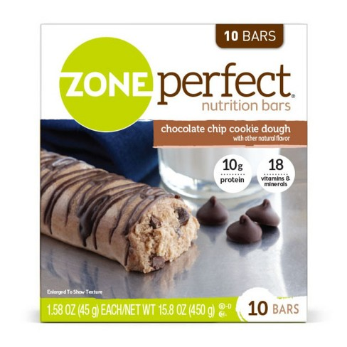Zone Perfect Nutrition Bar Chocolate Chip Cookie Dough - 1.76oz(10pk) - image 1 of 4
