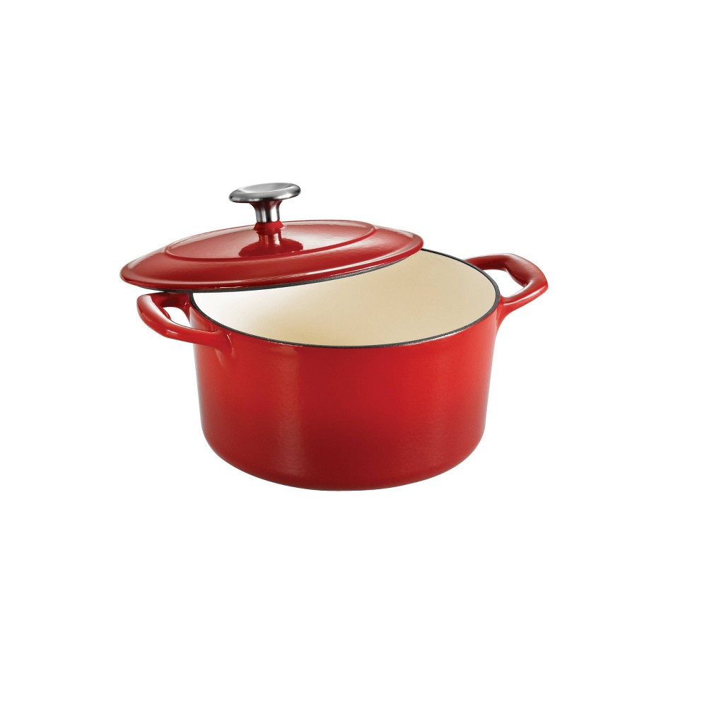 Image of Tramontina 3.5qt Cast Iron Dutch Oven Red