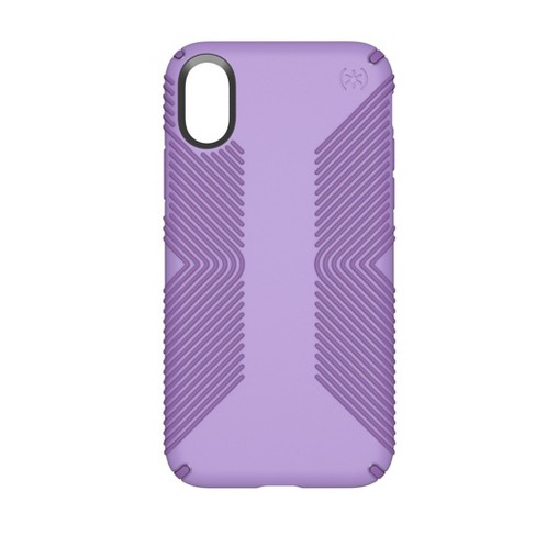 Speck iPhone X Case Presidio Grip - Purple - image 1 of 8