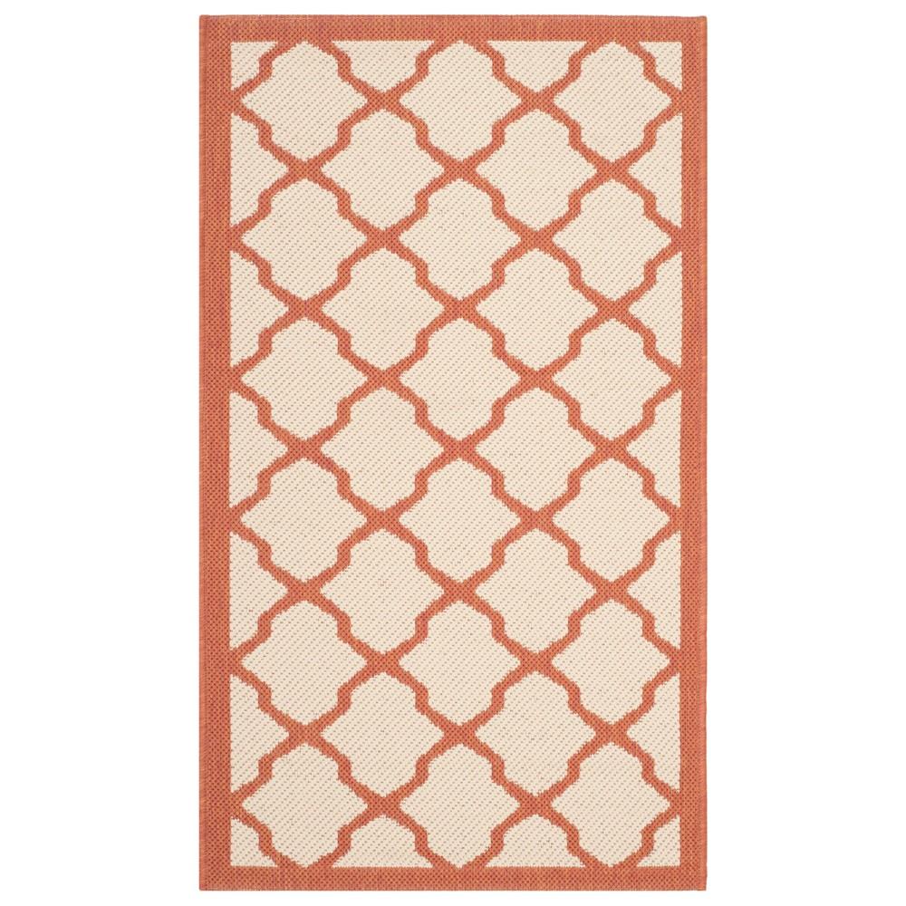 27X5 Rectangle Malaga Patio Rug Beige/Terracotta - Safavieh Price