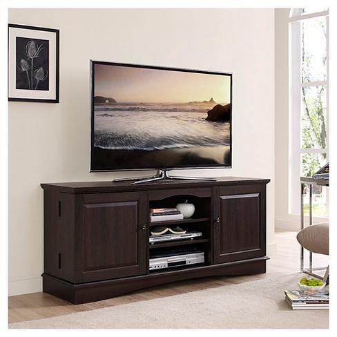 60 Wood Tv Media Stand Storage Console Espresso Saracina Home