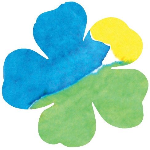 Hygloss Flowers Dippity Dye Paper, 5-1/2 Inches, pk of 36 - image 1 of 1