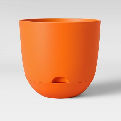 8  Self Watering Planter Orange - Room Essentials™