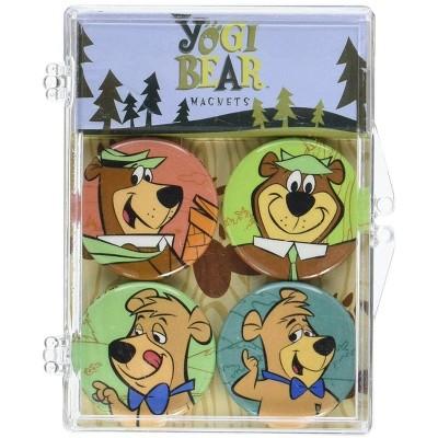 Crowded Coop, LLC Hanna-Barbera Yogi Bear Magnet 4-Pack