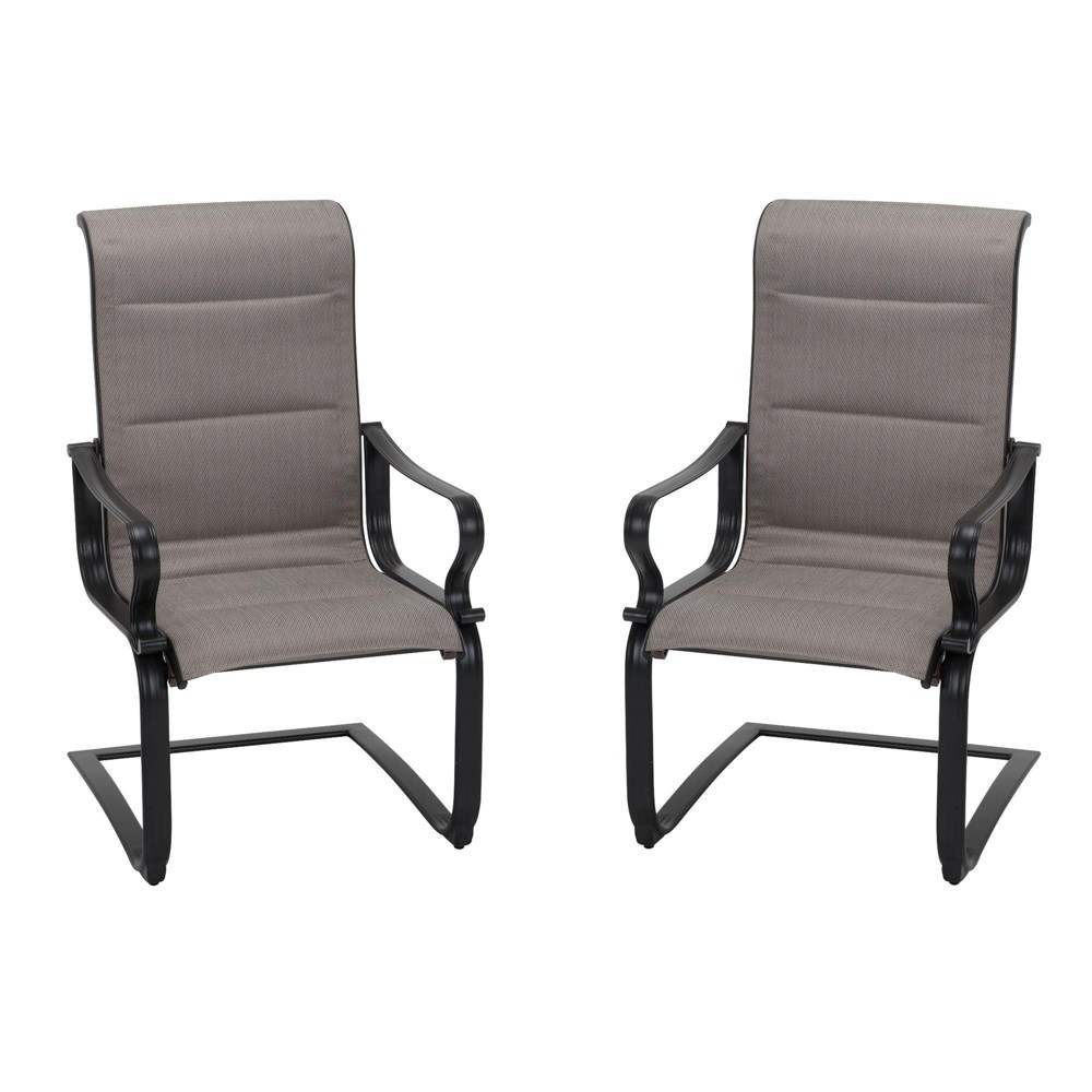 'It's a Snap' 2pk Padded Sling Motion Chairs - Gray/Beige - Cosco Outdoor Living