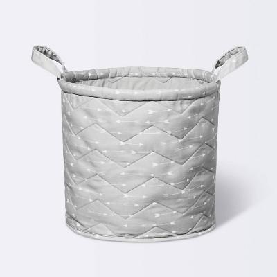 Quilted Storage Bin Arrows - Cloud Island™ Gray