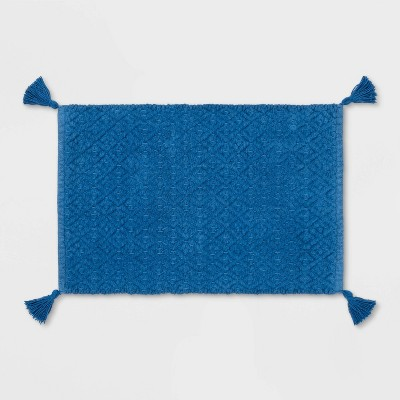 Tassel Bath Rug Blue - Threshold™