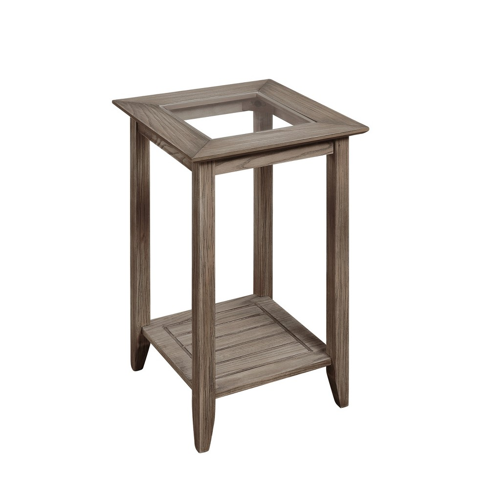 Carmel End Table Driftwood Brown - Johar Furniture Carmel End Table Driftwood Brown - Johar Furniture