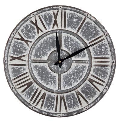 Metal Wall Clock Gray - E2 Concepts
