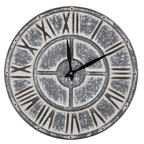 Metal Wall Clock Gray - E2 Concepts - image 1 of 6