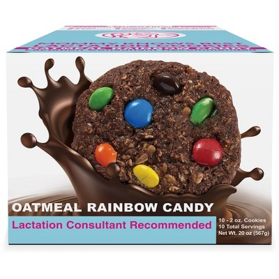Mommy Knows Best Ready To Eat Oatmeal Chocolate Rainbow Candy Chip Lactation Cookies - 10pk