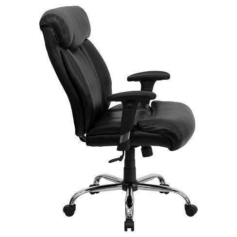 Hercules Series 400 Lb Capacity Tall Adjule Executive Swivel Office Chair Black Leather Flash Furniture Target