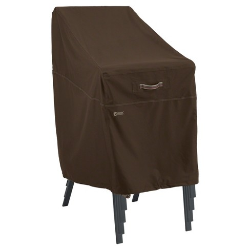 Madrona Stackable Chair Cover - Dark Cocoa - Classic Accessories - image 1 of 9
