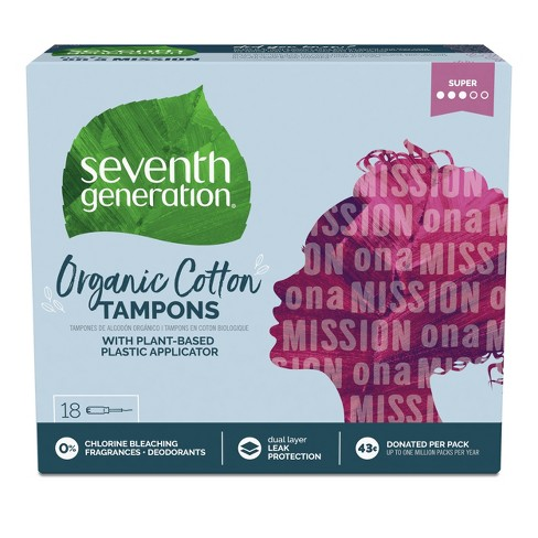 Seventh Generation Tampons with Comfort Applicator Super - 18ct - image 1 of 4