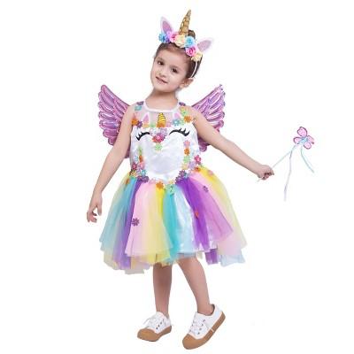 Kids' Unicorn Deluxe Halloween Costume Set
