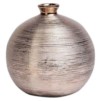 Bowl-Shaped Spun Vase Cognac 9  - Drew DeRose