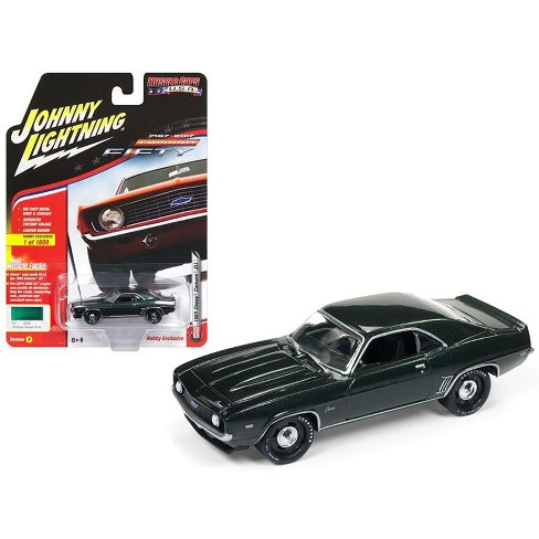 "1969 Chevrolet Camaro ZL1 Fathom Green Poly 50th Anniversary Ltd Ed 1800pc ""Muscle Cars USA"" 1/64 Model Johnny Lightning - image 1 of 1"