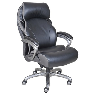 Big U0026 Tall Smart Layers Premium Elite Executive Chair With Air Bliss Black  Multi Tone Leather   Serta