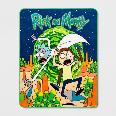 "40""x60"" Rick and Morty Throw Blanket - image 1 of 1"