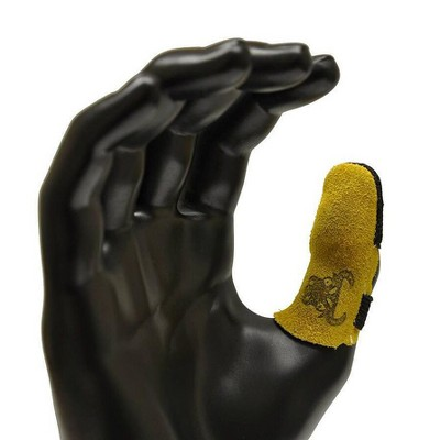 Cowhide Leather Thumb Guard - Large - Yellow - G & F
